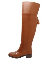 Ralph Lauren Over The Knee Boots Deep Saddle Tan