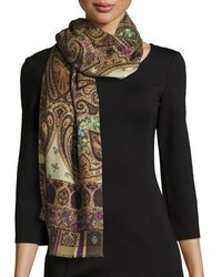 Brown Paisley Scarf