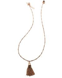 Eddie Borgo Small Rose Gold Plated Chain Tassel Pendant Necklace