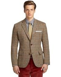 Brooks Brothers Own Make Herringbone Multi Plaid 101 Sport Coat