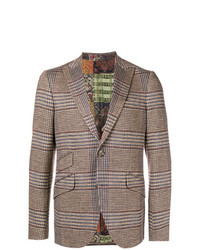 Etro Checked Slim Fit Blazer