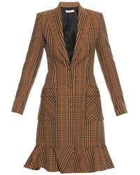 Altuzarra Cooper Prince Of Wales Check Wool Blend Coat