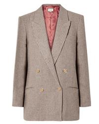 Gucci Houndstooth Checked Linen Blazer