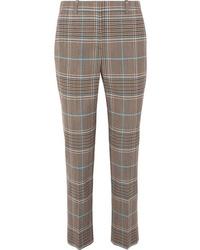 Brown Plaid Dress Pants