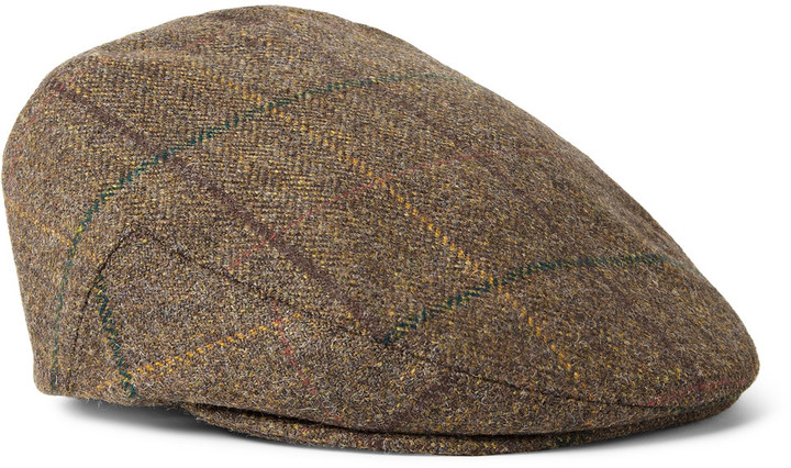 7dd94887a1c ... Caps Lock   Co Hatters Glen Check Wool Tweed Flat ...