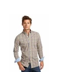 Brown Plaid Long Sleeve Shirt