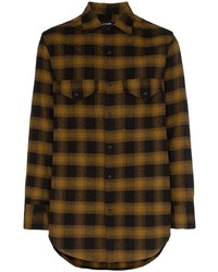 Song For The Mute Oversized Check Shirt