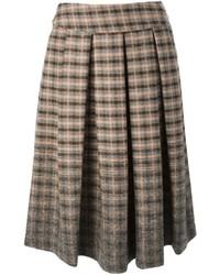 Erika semi couture patterned pleated midi skirt medium 117205