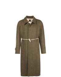 Maison Margiela Houndstooth Rope Fastening Coat