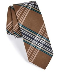 Delores plaid silk cotton tie medium 248395