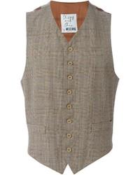 Moschino Vintage Checked Tweed Waistcoat