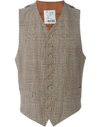 Vintage checked tweed waistcoat medium 445491