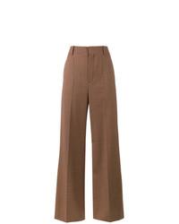 Chloé Micro Check Wide Leg Trousers