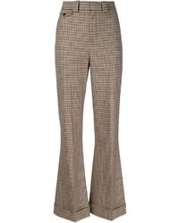 Plaid flared trousers medium 401242