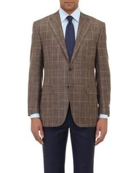 Brown Plaid Wool Blazer