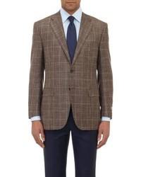 Brown Plaid Wool Blazer