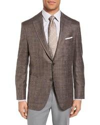 Peter Millar Classic Fit Plaid Wool Blend Sport Coat