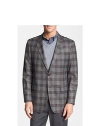 Robert Talbott Classic Fit Plaid Wool Sportcoat