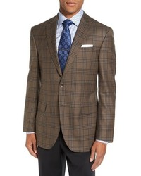 Connor classic fit plaid wool sport coat medium 801098