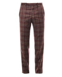 Alexander McQueen Check Wool Twill Trousers