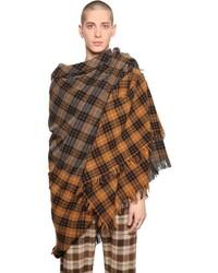 Faith Connexion Gradient Plaid Wool Scarf