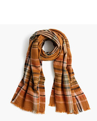 J.Crew Wool Scarf In Plaid