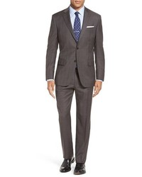 Classic fit plaid wool suit medium 1247855