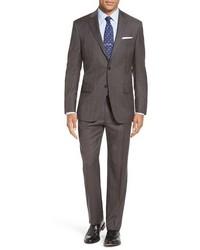 Classic fit plaid wool suit medium 1247855