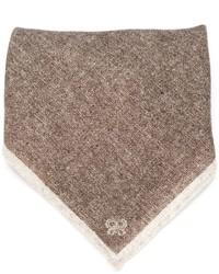 Eleventy Tonal Stripe Pocket Square