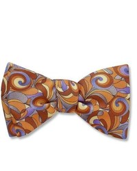 Brown Print Bow-tie