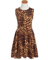 Menu U Sleeveless Print Skater Dress
