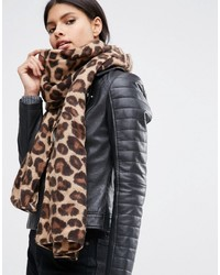 Lightweight natural leopard print scarf medium 959377