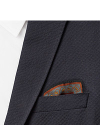 Kingsman Drakes Victorian Garden Printed Wool And Silk Blend Pocket Square