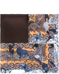 Etro Printed Border Pocket Square