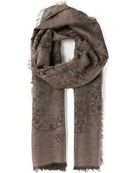 Brown Print Scarf