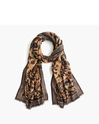 Drakes indian sunrise print scarf medium 427656