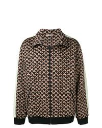 Brown Print Shirt Jacket