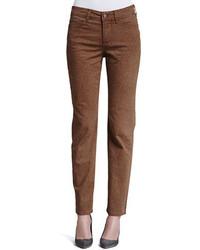 Brown Print Skinny Pants