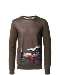 Brown Print Sweatshirt