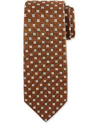 Brown Print Tie