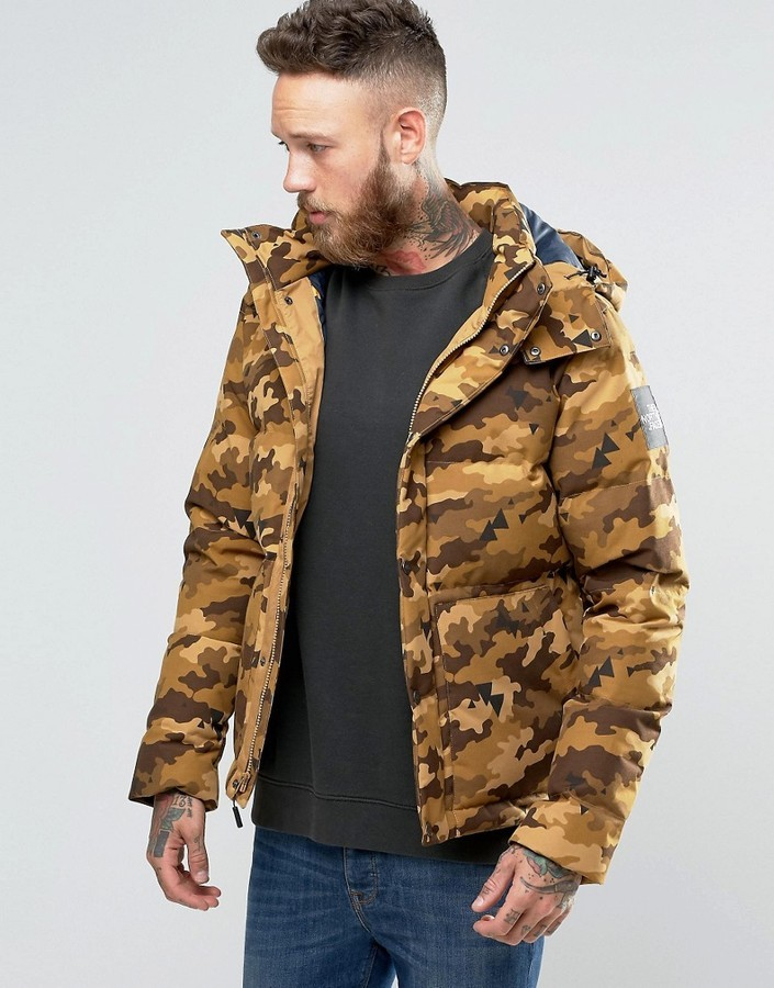 ... The North Face Box Canyon Down Jacket In Brown Camo ... 72fb173b7