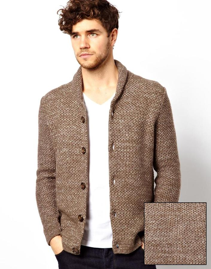 Asos Brand Lambwool Rich Baseball Cardigan | Where to buy & how to ...