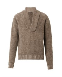 Shawl neck knit sweater medium 118857