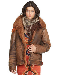 Brown Shearling Jacket