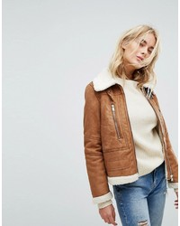Faux shearling jacket medium 6727753