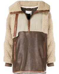 Oversized shearling jacket medium 6727746