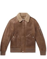 Brunello Cucinelli Shearling Aviator Jacket