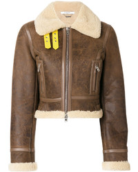 Shearling biker jacket medium 4979214
