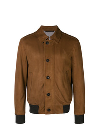 Ermenegildo Zegna Front Button Leather Jacket