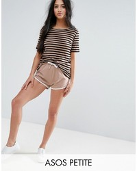 Asos Petite Petite Basic Runner Shorts With Contrast Binding